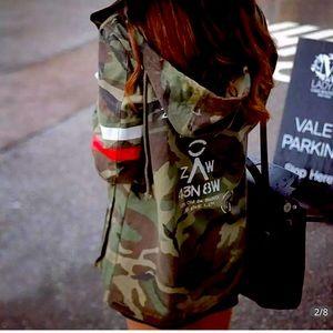 Chaquetas Mujer Army Camo Green Jacket